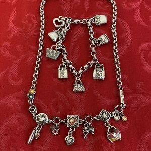 Brighton Purse Necklace and Bracelet Set